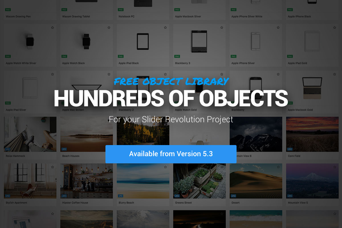Slider Revolution Object Library